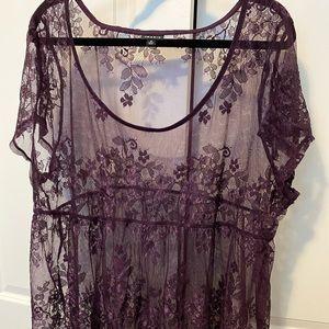 Torrid Size 3 Purple Lace Top